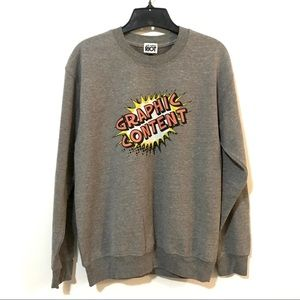 Cozy Graphic Soft Sweater Size Small NWOT